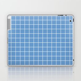 Livid - blue color - White Lines Grid Pattern Laptop & iPad Skin