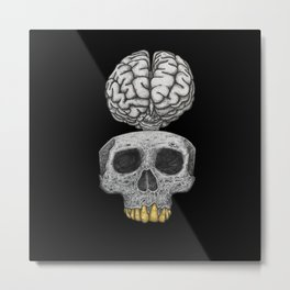 Losing my mind (black background) Metal Print
