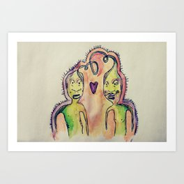 monsters number two  Art Print