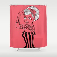 girl power Shower Curtains featuring Girl power ! by cakelab