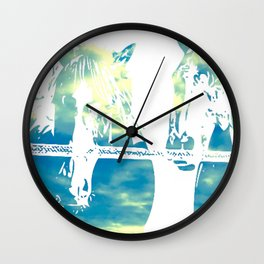 Two Horses and Sky Wall Clock