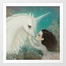 Unicorn Kiss Art Print