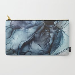 Blush and Darkness Abstract Paintings Carry-All Pouch
