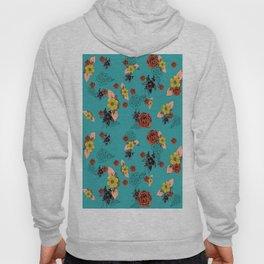 Not your Basic Floral - Aqua Hoody