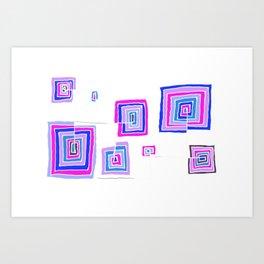 Permanent Line - White line Art Print