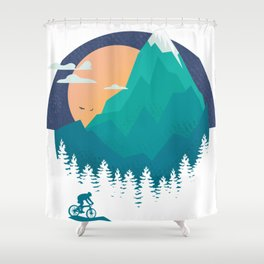 outdoor fanatics, in the mountain Shower Curtain
