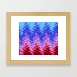 Waterfall of Color Framed Art Print