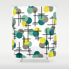 Atomic Age Molecules Shower Curtain