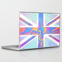 hologram Laptop & iPad Skins featuring Holographic Union Jack  by Berberism Lifestyle