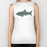 lakers Biker Tanks featuring LA Sharks Alt 3 by Nicko-Suave