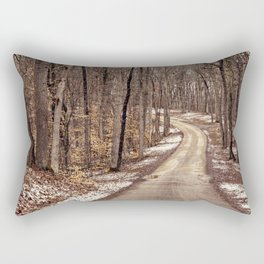 road through the woods Rectangular Pillow