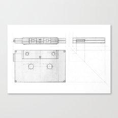 Cassette Tape  Projection Canvas Print