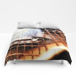 Metal Fire Escape Stairs Abstraction Comforters