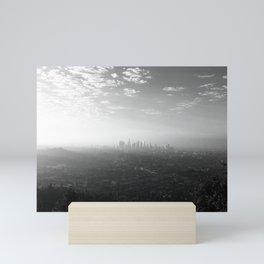 Los Angeles. L.A. Skyline. Black and White. Jodilynpaintings. Sunrise. Sunset. Cityscape. California Mini Art Print