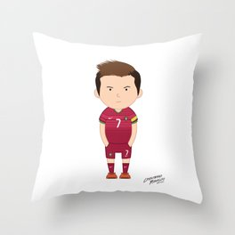 Cristiano Ronaldo - Portugal - World Cup 2014 Throw Pillow