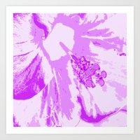 Intimate Purple Art Print