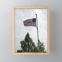 Proudly Waving Framed Mini Art Print