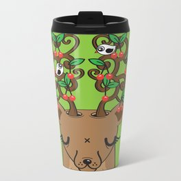 Love with Cherries on Top Metal Travel Mug
