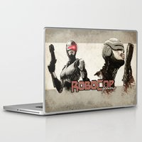 robocop Laptop & iPad Skins featuring Robocop Girl - Desafío52 by Marcos Raya Delgado