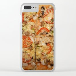 Preparation of home-made Italian pizza in the oven Clear iPhone Case