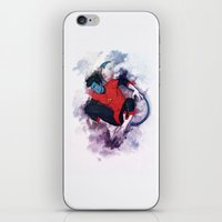 nightcrawler iPhone & iPod Skins featuring Jumper by ribkaDory