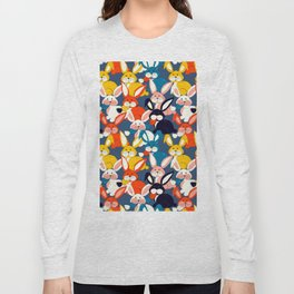 Rabbit colored pattern no2 Long Sleeve T-shirt