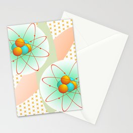 Mid-Century Modern Art Atomic 1.0 Stationery Cards