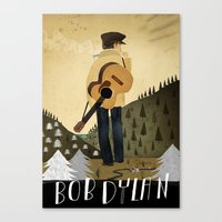 bob dylan Canvas Prints featuring Bob Dylan by Patrick Latimer