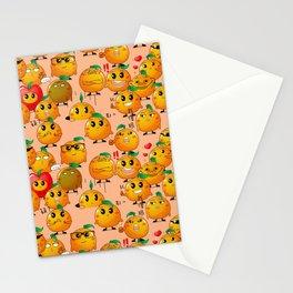 oranger pattern on pink background Stationery Cards