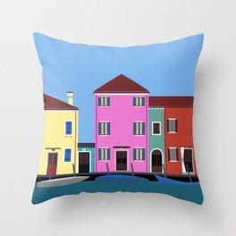 Isola di Burano, Italy Throw Pillow