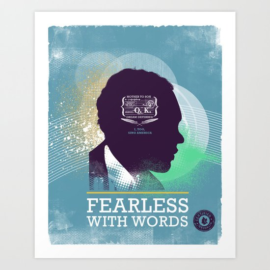 FEARLESS: With Words - L. Hughes Art Print