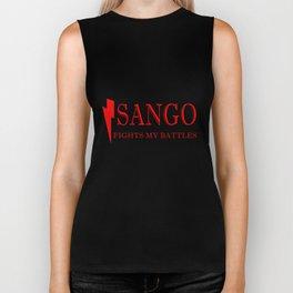 Sango Fights My Battles Biker Tank