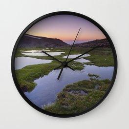 River San Juan lagoons at sunset Wall Clock