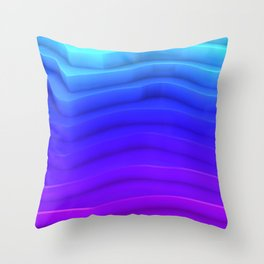 Abstract Mountain Stairs Surface Rim Throw Pillow