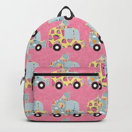 Ice Cream Truck Pink Backpack