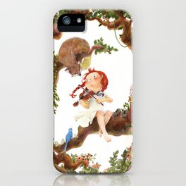 A girl playing violin iPhone Case