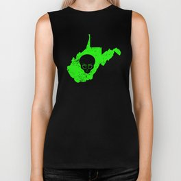 Alien UFO Abduction Design Extraterrestrial Life West Virginia Biker Tank