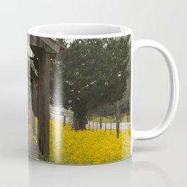 Slave Cabins with Yellow Wildflowers Coffee Mug