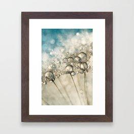 Sapphire & Silver Sparkle Framed Art Print