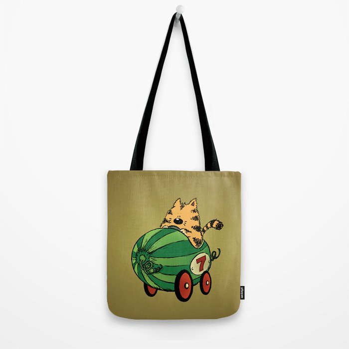 Albert and his watermelon ride Tote Bag
