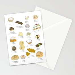 Swedish Cakes & Cookies Stationery Cards