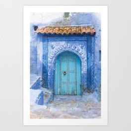 Doorways - Morocco - Chefchaouen The Blue City 19 Art Print