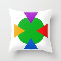 ninja turtle Throw Pillows featuring Teenage Mutant Ninja Turtle Minimalist by The Fenix