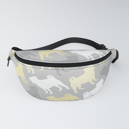 Grey and Yellow Pugs Pattern Fanny Pack