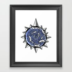 Wind rose Framed Art Print