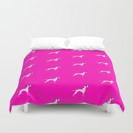 DALMATIANS ((hot pink)) Duvet Cover