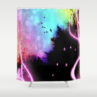 roald dahl Shower Curtains featuring Magic in the Air by Geni