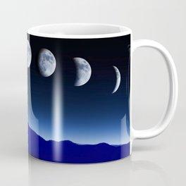 Moon Phases #blue Coffee Mug