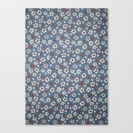 Floral Fabric Canvas Print