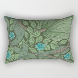 "William Morris ""Forget-Me-Nots"" (""Pimpernel"" detail) Rectangular Pillow"
